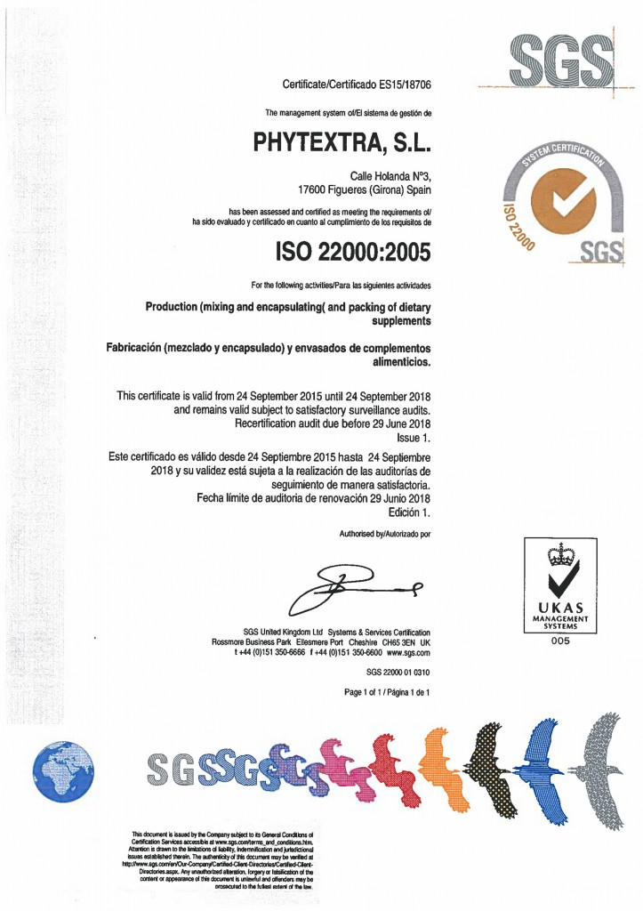 PHYTEXTRA_211025_ISO 22000 UKAS_Certificate BD
